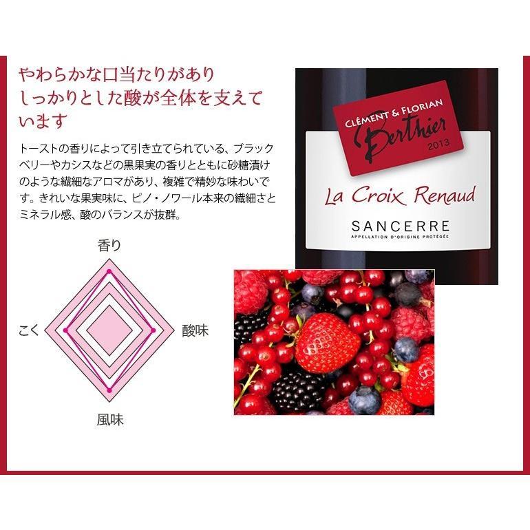 在庫処分セール 赤ワイン ミディアムボディ ラ・クロワ・ア・ルノー サンセール ルージュ 2013 ピノノワール フランスロワール 750ml 自社輸入|mariage|02