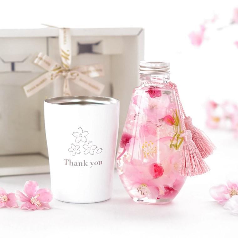 桜ハーバリウム&タンブラーセット