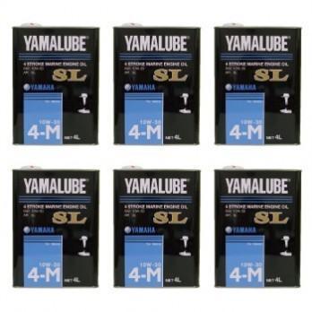 YAMAHA 4サイクル(ガソリン) マリンオイル SL 10W-30  4L スチール缶 1ケース(6本)