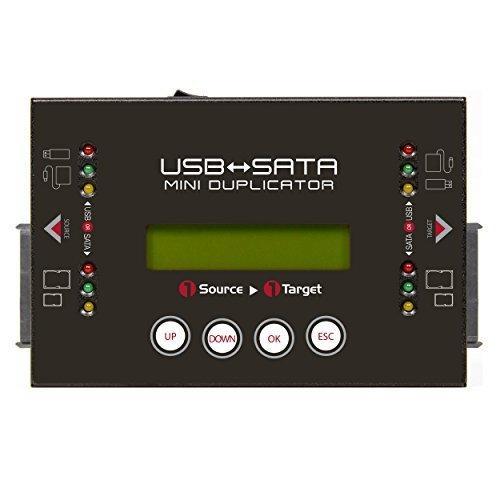 U-Reach Japan HQ200H 1:1 USB/SATAデュプリケータ HQ200 USBおよびSATA HDD/SSDのコピー、消去が可能な小型デュプリケータ