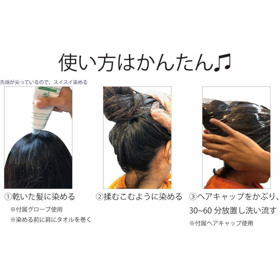 白髪染め ヘアカラー ダークブラウン 毛染め 敏感肌 低刺激 ジアミンフリー 天然成分配合 美髪 艶 ヘナ 頭皮に優しい 送料無料 トリートメント効果|marinoshop|10