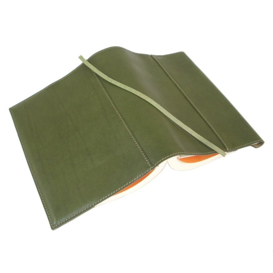 piccino ピッチーノ ブックカバー単行本(ハードカバー)サイズ国産 革イタリアンナッパ A15NL オリーブ(グリーン)