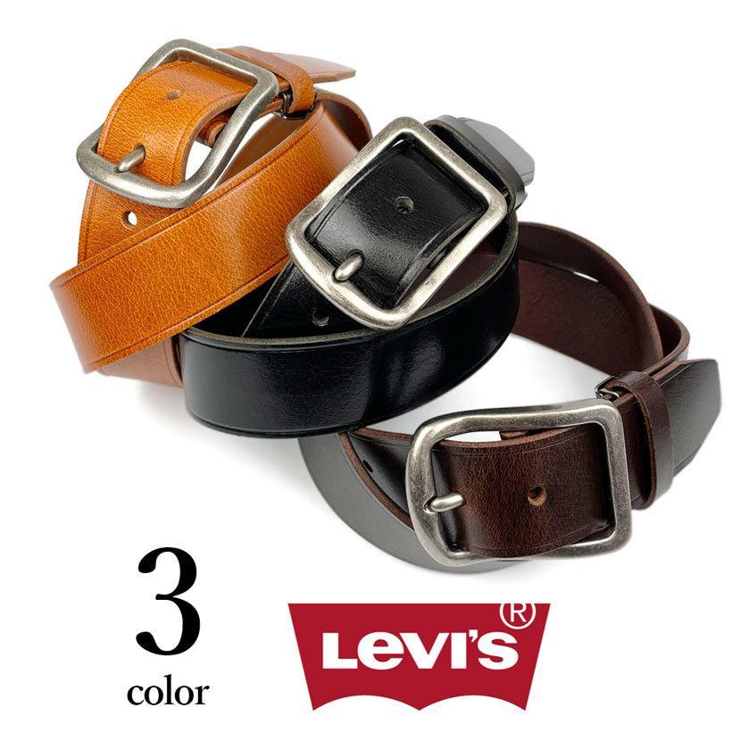 ベルト Levis リーバイス ギャリソン レザー ベルト 合成皮革 フェイクレザー メンズ レディース 男女兼用|markers-patch