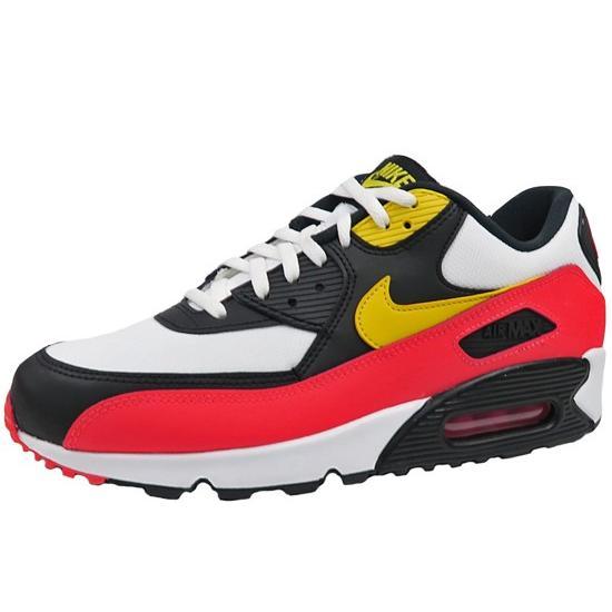 Nike Air Max 90 Essential White Yellow Black Red Mens Running Shoes AJ1285-109