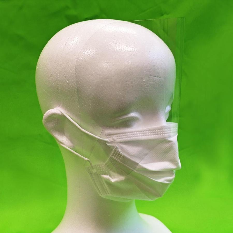 簡易型フェイスガードミニ10枚セット マスクに装着 自社オリジナル製品 口はマスクで、目元はフェイスガードミニで!|maru-suzu