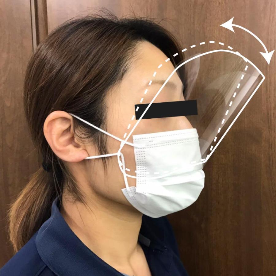 簡易型フェイスガードミニ10枚セット マスクに装着 自社オリジナル製品 口はマスクで、目元はフェイスガードミニで!|maru-suzu|02