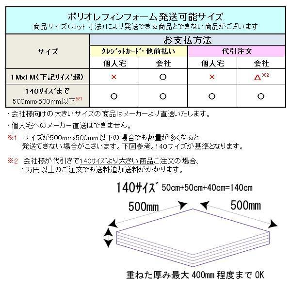 ポリエチレンフォーム P-14 厚10mm×幅1Mx長1M (色・カットサイズ選択可能 カット賃込) maru-suzu 07