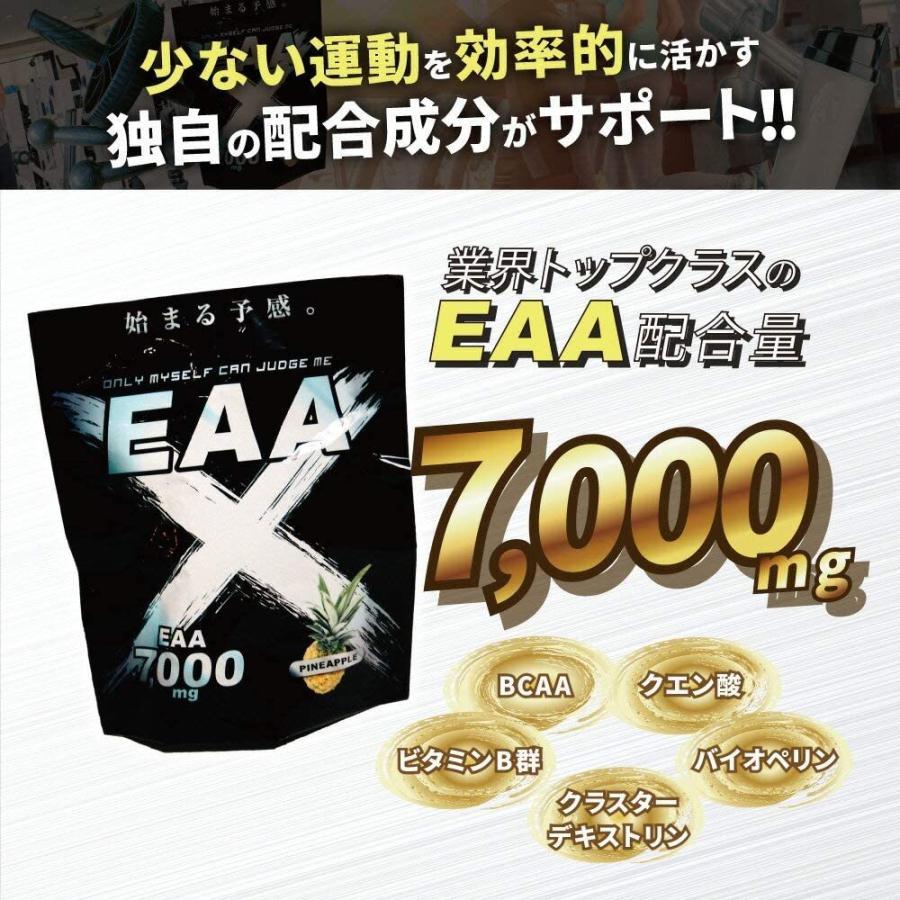 EAAサプリ EAAX 500g パイン味 アミノ酸 HMB プロテイン BCAA ダイエット 筋トレ 減量|marucomarket|05