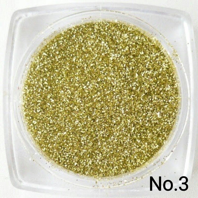 ライトゴールド 50gパック 0.15mm角 国産ラメグリッターパウダー No.3 marufu-ys