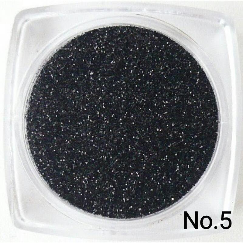ブラック 50gパック 0.15mm角 国産ラメグリッターパウダー No.5 marufu-ys