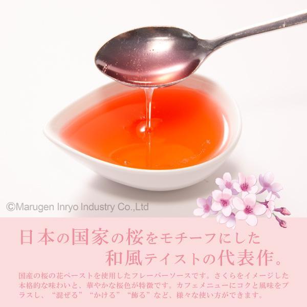 ハーダース カフェ用フレーバーソース さくら 300ml ドリンク コーヒー アイス パンケーキ シロップ ラテ ミルク トッピング マキアート 桜 桜餅 デザート|marugeninryo|05