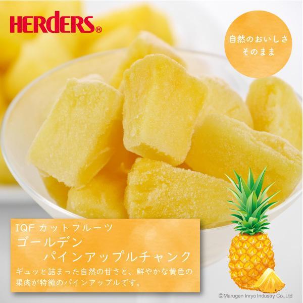 <冷凍フルーツ>ハーダース IQFカットフルーツ ゴールデンパインアップルチャンク500g 冷凍食品 冷凍パイン カット 果物 marugeninryocool 02