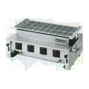 マルゼン 下火式焼物器(炭焼き、熱板タイプ、自動点火、汎用型) MGK-308B 業務用 業務用焼物器