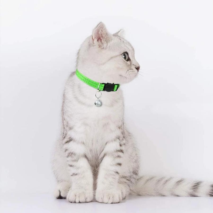 猫用首輪 猫首輪 セーフティーバックル シンプルな首輪 ペット首輪 なんでもない柄 鈴付き 長さ調査可能 首輪無う|maruhachipetshop|07