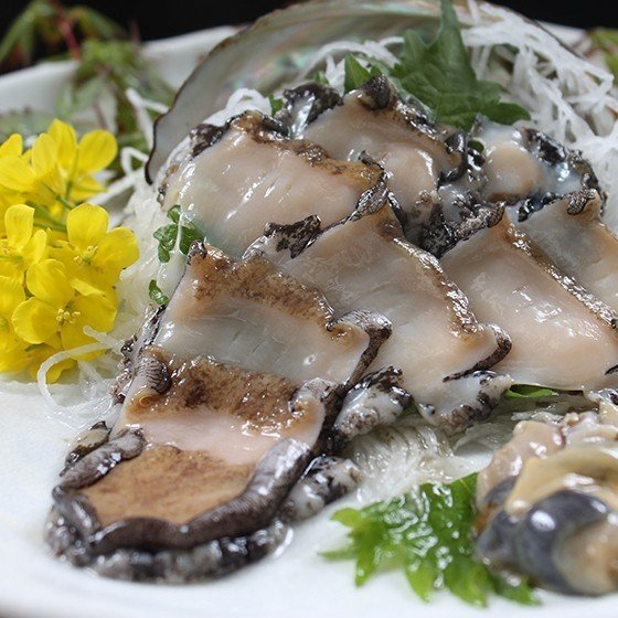 活えぞあわび養殖(韓国産)活ざざえ各5個入〔海水入酸素入〕〔送料無料〕9種類のカラーレシピ&保存方法付なのでご家庭で料理できます それに100%活きたまま|marukatsu-onjuku11|03