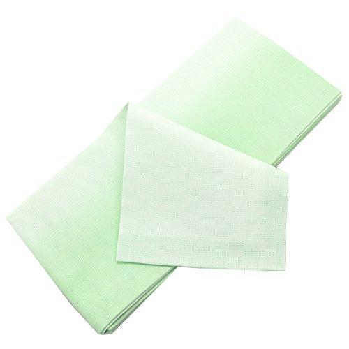 浴衣 帯 竺仙 5084本麻小袋帯市松 半幅帯 細帯 日本製 レディース 13ぼかし黄緑黄緑