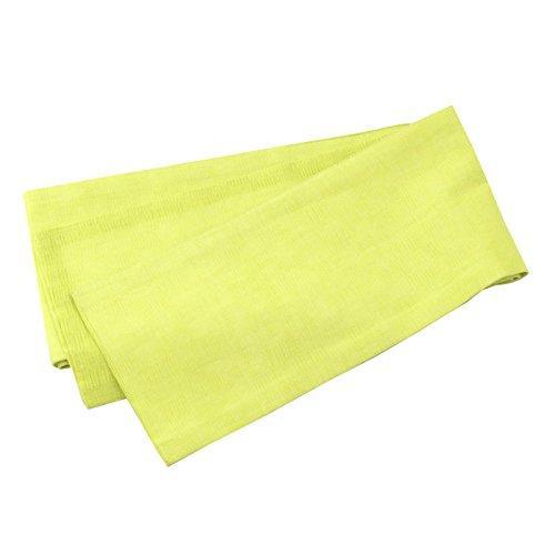 浴衣 帯 竺仙 5084本麻小袋帯 麻市松両面 半幅帯 細帯 日本製 レディース 01 黄緑 市松