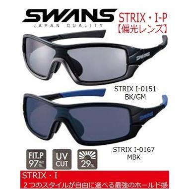 SWANS (スワンズ) STRIX・I-P (ストリックスアイピー) 偏光レンズ サングラス (I-0151/I-0167) 日本正規品