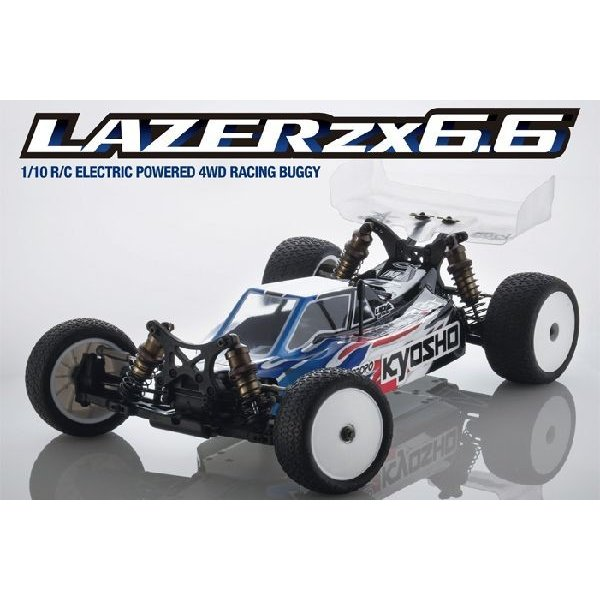 レーザーZX6.6 京商 30047 1/10電動4WDラジコンカー組立キット