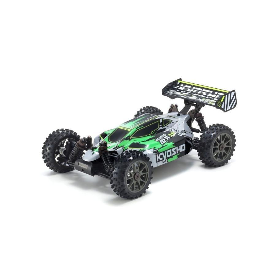 予約受付中!1/8 電動 インファーノ NEO 3.0 VE カラータイプ1 グリーン KT-231P+付 完成レディセット 34108T1 ブラシレスパワード 4WD レーシングバギー