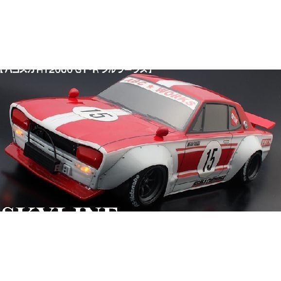 ハコスカ HT2000 GT-R フルワークス バリバリCUSTOM!! ABCホビー 66170 【RCカー1/10用未塗装スペアボディ】
