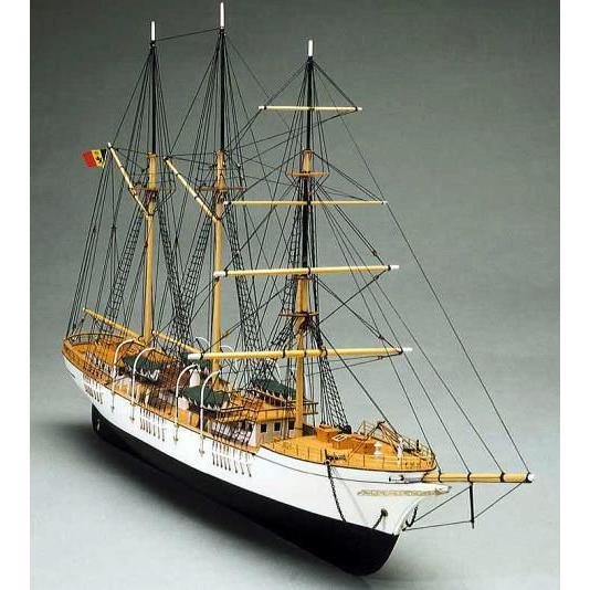 メルカトール号 1932年 ベルギー海軍練習船 【マンチュア・セルガル社:Art.757 木製組立モデル】
