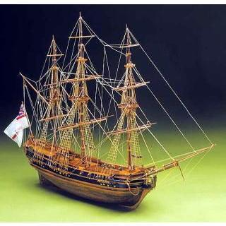プレジデント号 (1760年イギリス海軍フリゲート艦) 【マンチュア・セルガル社:Art.792 木製組立モデル】