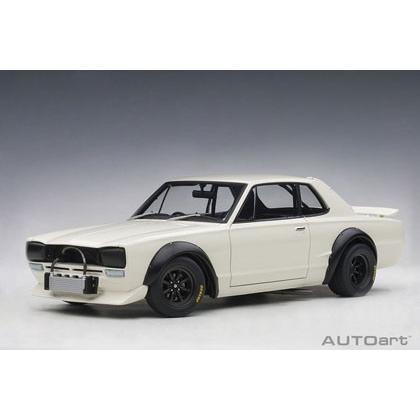 予約受付中!オートアート 1/18 日産 スカイライン GT-R (KPGC10) レーシング 1972 (ホワイト) 完成ミニカー 10月