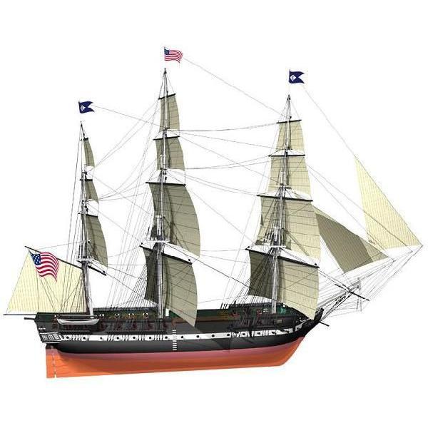 ■ ビリング:BB508 USSコンスティチューション (1797 アメリカ) 【木製組立モデル】