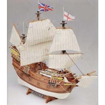 1/75MV49 メイフラワー(1620英国清教徒を新大陸アメリカへ運搬) 〔和文翻訳付〕 【マモリ1:MV49木製帆船組立キット】