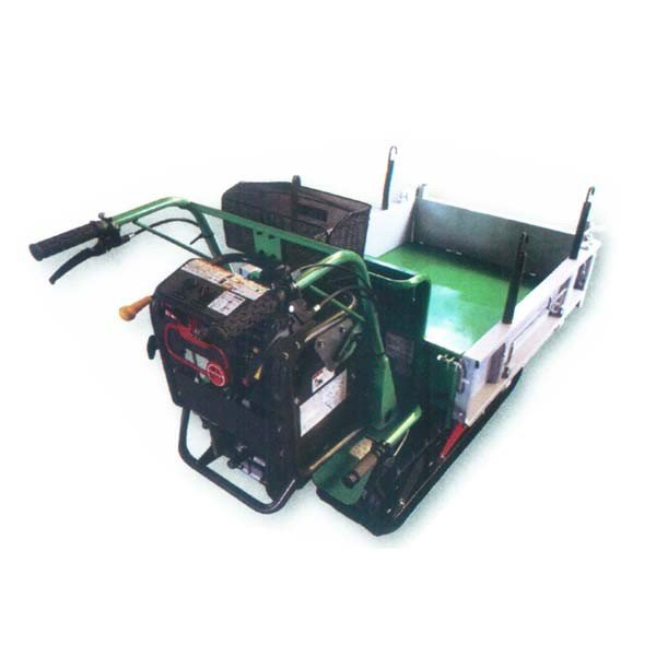 【atex/アテックス】小型クローラ運搬車 『XG403YFE(セル付き)』[アシスト式ハンドダンプ/箱型三方開閉式荷台]