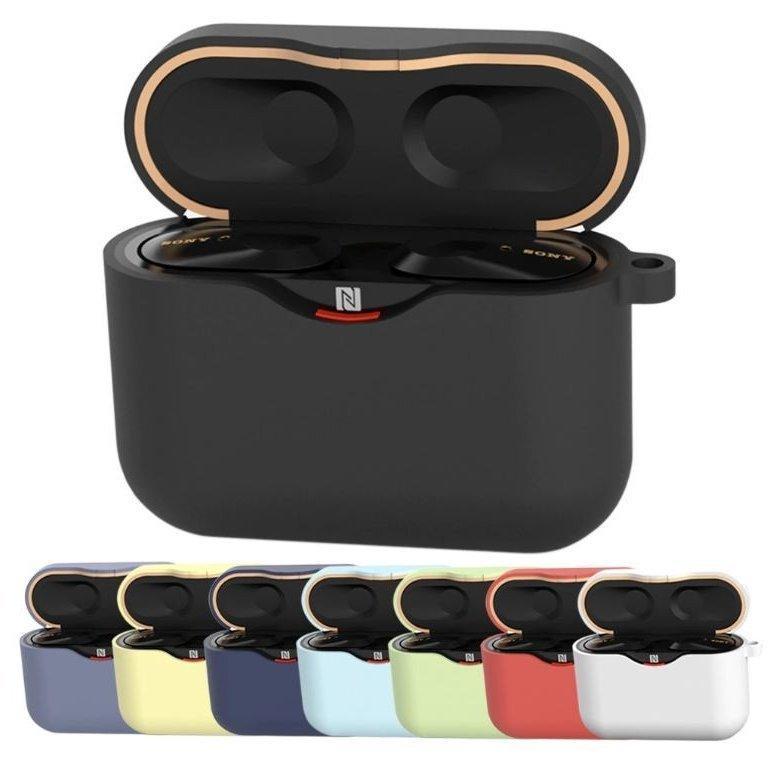 SONY WF-1000XM3 ケース 送料無料 店舗 ソニー WF1000XM3 [再販ご予約限定送料無料] カバー シリコンケース Case 薄型 シンプル ソフトケース カラビナ
