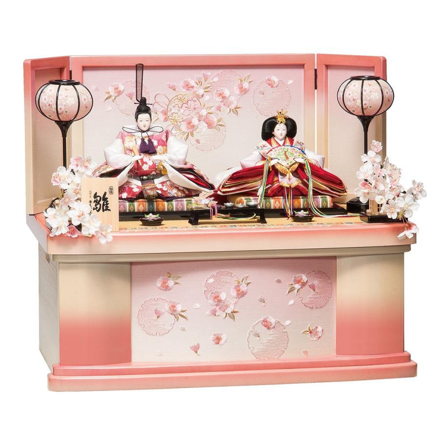 雛人形 コンパクト 収納 平安豊久 かな 小三五親王揃 収納飾り