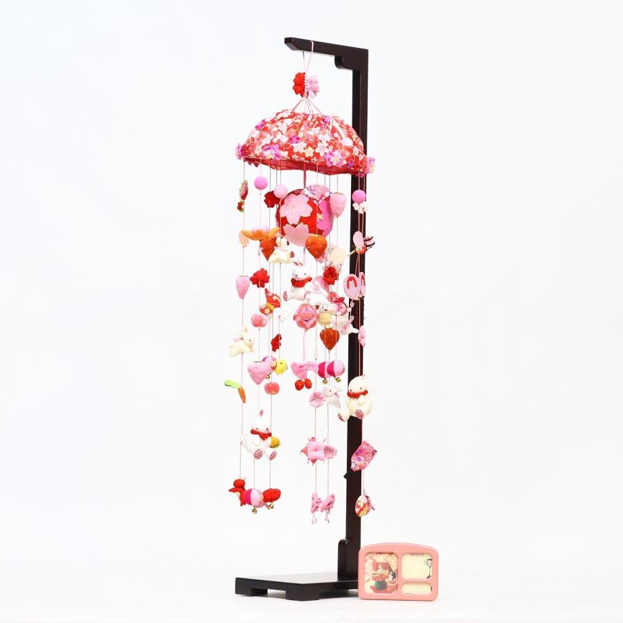 つるし飾り つるし雛 桜うさぎ (大) スタンド付き オルゴール付き