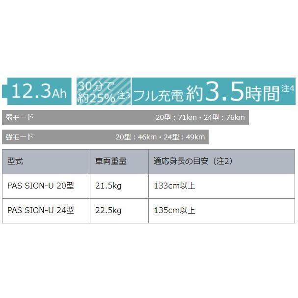 電動自転車 ヤマハ 小径 お買い物 2021年モデル 前後20インチ PAS SION-U シオンユー スノーホワイト PA20SU|marutomiauto|04