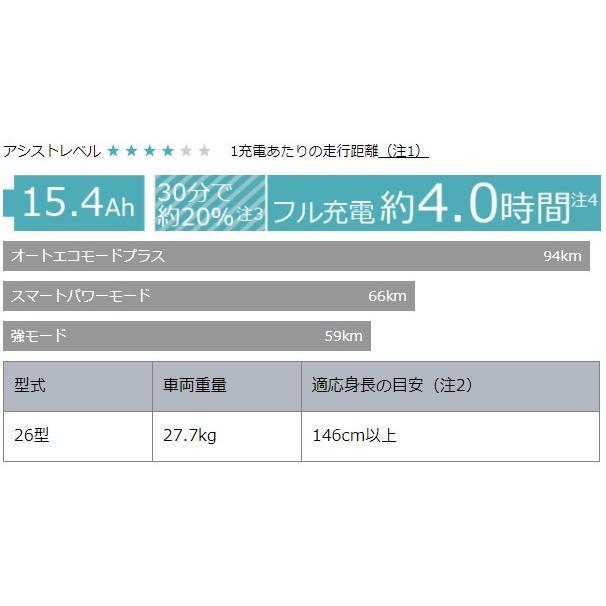 ポイント5倍 電動自転車 ヤマハ 通学 シティタイプ 2021年モデル 前後26インチ PAS RIN パスリン パウダーブルー PA26RN|marutomiauto|04