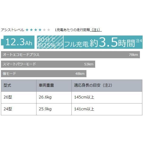 PAS With カカオ パスウィズ ウィズ 26型 2021年モデル ヤマハ YAMAHA PA26W 電動自転車 電動アシスト自転車 marutomiauto 04