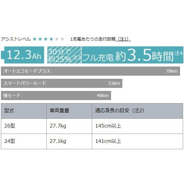 PAS WithDX マットブラック パスウィズ ウィズDX 26型 2021年モデル ヤマハ YAMAHA PA26WDX 電動自転車 電動アシスト自転車 marutomiauto 04