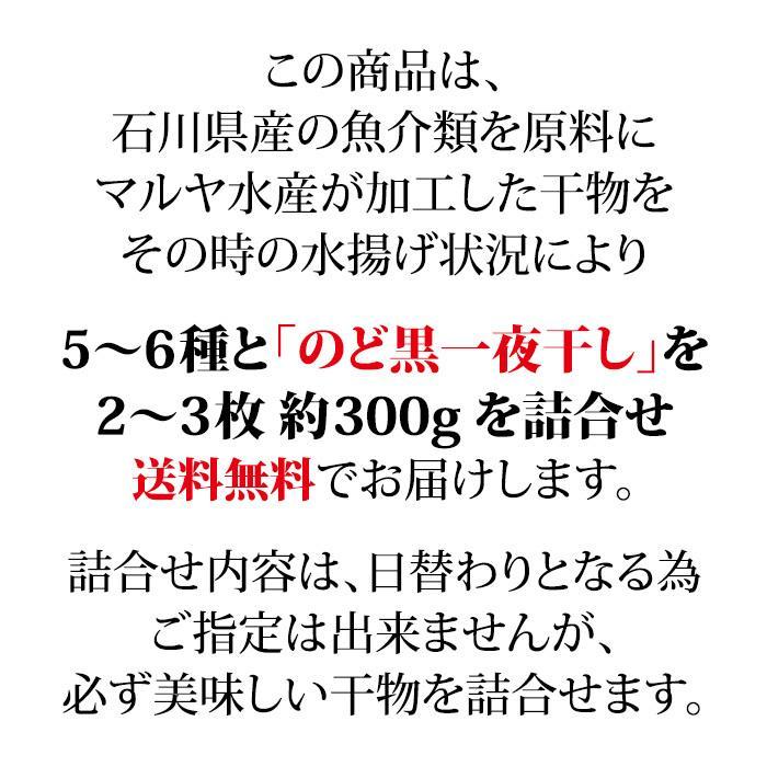干物/一夜干し (石川県産) お任せ 5〜6種+のどぐろ2〜3枚 詰め合わせ|maruya|02