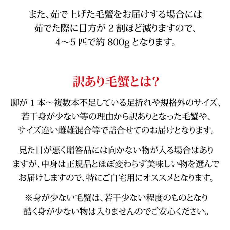 数量限定入荷!活毛蟹 4〜5匹 合計1.0kg詰合せ 訳あり:小さめ/足折れ/雄雌混合 (石川県産)|maruya|03