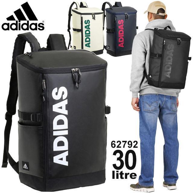 アディダス adidas リュック 通学 ボックス型 スクエア 30リットル 大容量 スクールバッグ 通学リュック 62792|maruzen-bag
