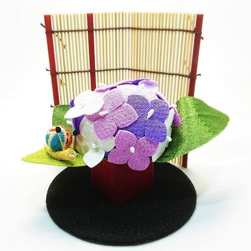 置物 コンパクト ちりめん 小さい 手作り / 初夏の訪れ / 梅雨 かえる 紫陽花 人形 飾りミニ 可愛い人気 maruzen-kyoto 02