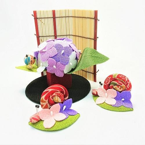 置物 コンパクト ちりめん 小さい 手作り / 初夏の訪れ / 梅雨 かえる 紫陽花 人形 飾りミニ 可愛い人気 maruzen-kyoto 11
