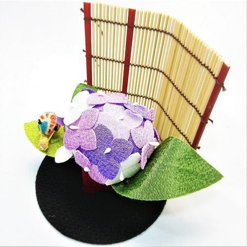 置物 コンパクト ちりめん 小さい 手作り / 初夏の訪れ / 梅雨 かえる 紫陽花 人形 飾りミニ 可愛い人気 maruzen-kyoto 04