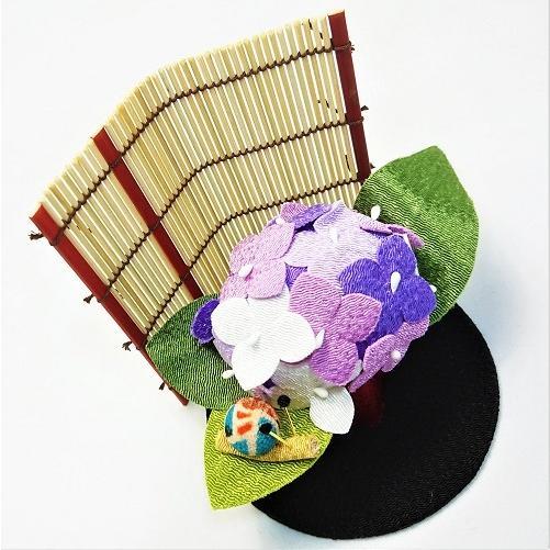 置物 コンパクト ちりめん 小さい 手作り / 初夏の訪れ / 梅雨 かえる 紫陽花 人形 飾りミニ 可愛い人気 maruzen-kyoto 05