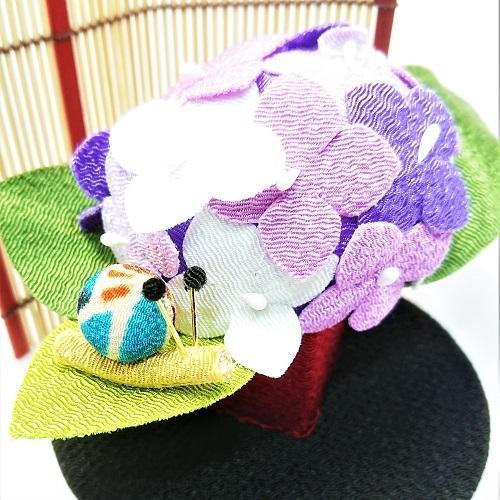 置物 コンパクト ちりめん 小さい 手作り / 初夏の訪れ / 梅雨 かえる 紫陽花 人形 飾りミニ 可愛い人気 maruzen-kyoto 06