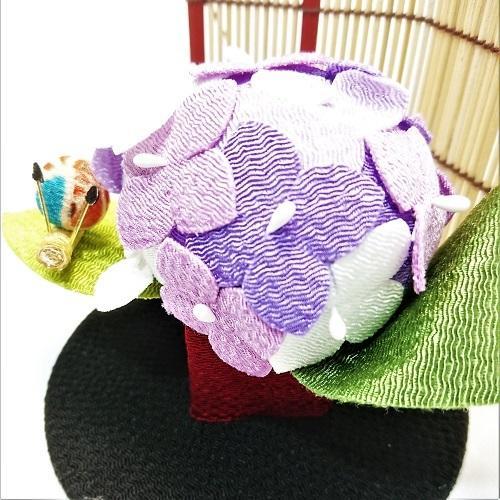 置物 コンパクト ちりめん 小さい 手作り / 初夏の訪れ / 梅雨 かえる 紫陽花 人形 飾りミニ 可愛い人気 maruzen-kyoto 07