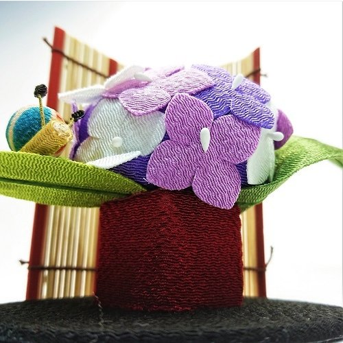 置物 コンパクト ちりめん 小さい 手作り / 初夏の訪れ / 梅雨 かえる 紫陽花 人形 飾りミニ 可愛い人気 maruzen-kyoto 08