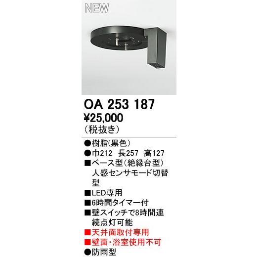 オーデリック エクステリアライト センサ 【OA 253 187】OA253187