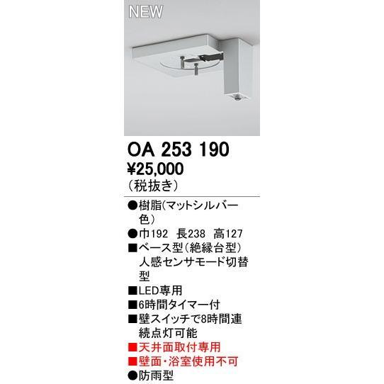 オーデリック エクステリアライト センサ 【OA 253 190】OA253190